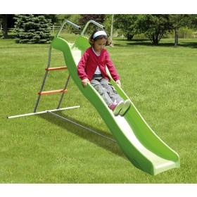Scivolo in acciaio verniciato gioco per bambini cm. 102x188x110h - arredo casa giardino