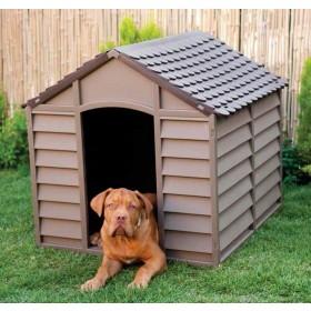 Cuccia per cani resina PVC beige/marrone cm 78x84x60/80h