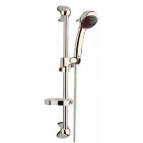 Saliscendi per doccia cinque getti cm. 60 completo di portasapone - Mod. Europa