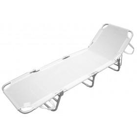 Lettino serie Playa struttura in alluminio colore bianco - sedia giardino mare campeggio