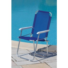 Poltrona serie Playa struttura in alluminio colore blu - sedia giardino mare campeggio