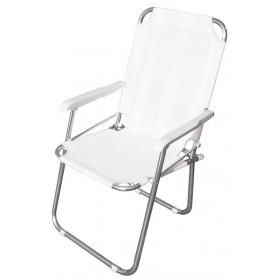 Poltrona serie Playa struttura in alluminio colore bianco - sedia giardino mare campeggio