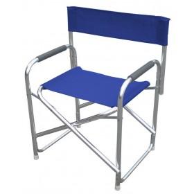 Poltrona da regista serie Playa struttura in alluminio colore blu - sedia giardino mare campeggio