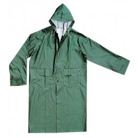 Cappotto impermeabile PVC poliestere verde taglia L antistrappo