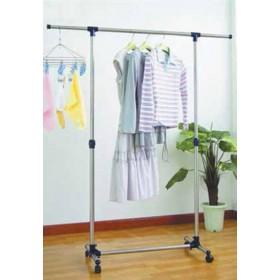Stander in metallo cromato con bracci estensibili ed altezza regolabile - arredo casa guardaroba armadio