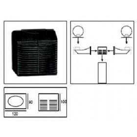 Attacco 2 bracci nero per palo lampioni Sistema SFERA