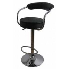 Sgabello girevole Sedia ufficio colore nero Mod. UT C826 base in metallo con poggiapiedi - arredo casa