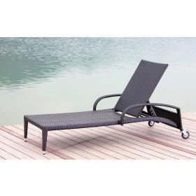 Lettino prendisole Mod. Acapulco in polirattan - arredo giardino piscina terrazzo