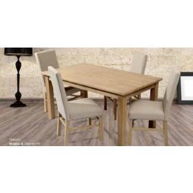 Tavolo Lubiana in legno massello cm. 160x90x77h - arredo casa salotto soggiorno