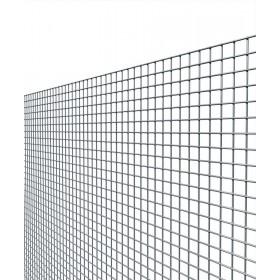 Rete elettrosaldata zincata maglia mm 12x25 altezza cm 60 filo mm 1.45