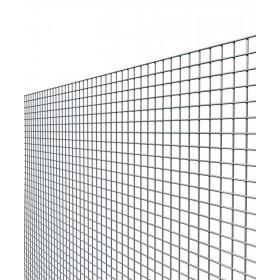 Rete elettrosaldata zincata maglia mm 12x25 altezza cm 100 filo mm 1.45
