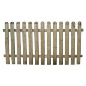 Steccato Mod. Ela Alto in legno di pino impregnato cm. 180x100 - arredo casa giardino