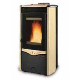 Termostufa a pellet Nordica Mod. Duchessa Idro Steel stufa pergamena 3.6-12.0 kW 344 m³ - riscaldamento casa arredo interni