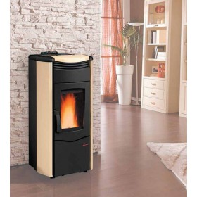 Termostufa a pellet Nordica Mod. Melinda Idro stufa pergamena 4.3-14.0 kW 400 m³ - riscaldamento casa arredo interni