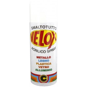 Spray smalto acrilico bianco lucido conf 6 bombolette da 400 ml