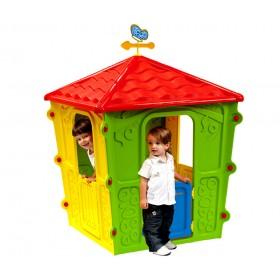 Casetta in resina gioco per bambini cm. 108x108x152h - arredo casa giardino