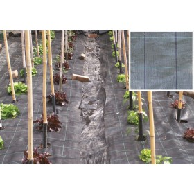 Telo pacciamatura copertura polietilene antierbacce rotolo m 2.10x100