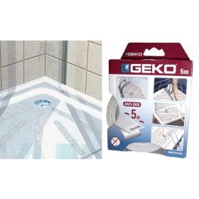 Antisdrucciolo autoadesivo trasparente per doccia o vasca rotolo da mm.25 per 5 mt - Geko