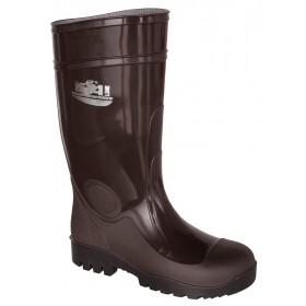 Stivali nitrile marrone altezza ginocchio suola carrarmato n 40
