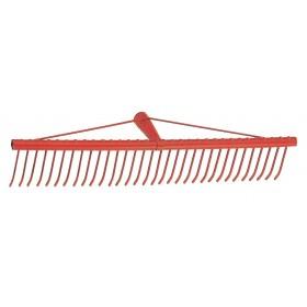 Rastrello 34 denti piatti acciaio verniciato larghezza 60 cm per erba