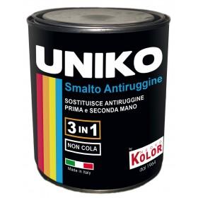 Smalto con antiruggine UNIKO 3 in 1 colore rosso 750 ml