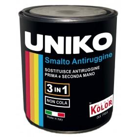 Smalto con antiruggine UNIKO 3 in 1 colore grigio argento 750 ml