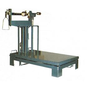 Bascula bilancia portata 300 kg piano lamiera cm 50x71 completa di pesi