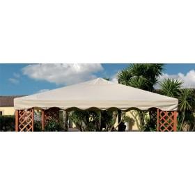 Top di ricambio per gazebo ecrù m. 3x3 in poliestere spalmato in PVC 400 g/mq - arredo casa giardino
