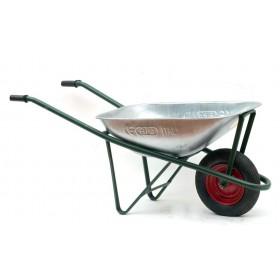 Carriola con vasca zincata capacità 70 l ruota pneumatica giardinaggio