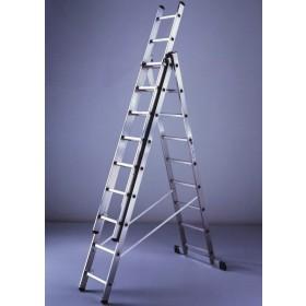 Scala combinata 3x7 alluminio 3 elementi h 202-516 cm cert. EN 131/1-2