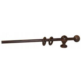 Bastone a strappo per tende ø 23 mm colore noce lunghezza 160 cm