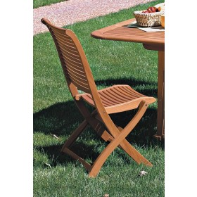 Sedia pieghevole in legno balau finitura ad olio cm. 63x53x95h - arredo casa giardino