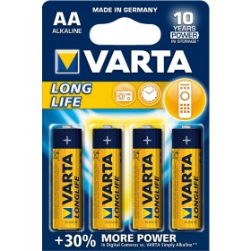 Batterie stilo AA VARTA LONGLIFE alcaline confezione 20 blister da 4 pz