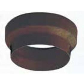 Maggiorazione per tubi stufa in acciaio verniciato marrone diametro cm. 8/12 - impianto riscaldamento casa