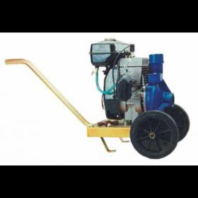 Motopompa centrifuga con carrello per irrigazione motore 2 tempi 97.96 cc Mod. CM 90/1 - pompa giardino