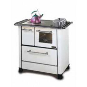 Cucina a legna Nordica Mod. Romantica 4.5 bianca 6.0 kW 172 m³ - stufa riscaldamento casa arredo interni