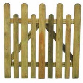 Cancello per Steccato in legno di pino impregnato cm. 100x100 - arredo casa giardino