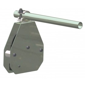 Carrucola di sicurezza in acciaio con freno autobloccante portata 50 kg