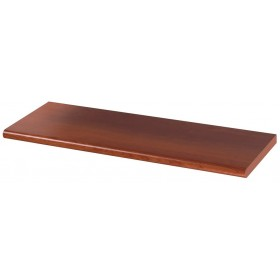 Mensola in legno colore ciliegio cm 40x20x1.8h bordo arrotondato