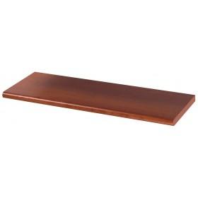 Mensola in legno colore ciliegio cm 60x20x1.8h bordo arrotondato