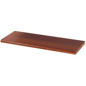 Mensola in legno colore ciliegio cm 60x25x2.5h bordo arrotondato