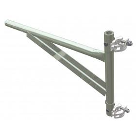 Mensola in acciaio per carrucola di sicurezza portata 250 kg cm 45x88