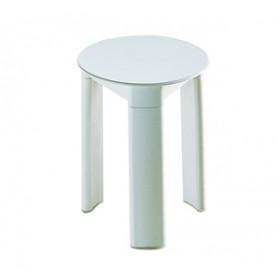 Sgabello in resina bianco Gedy ART.2072 ø cm 33x40.5 h - Mod. TRIO