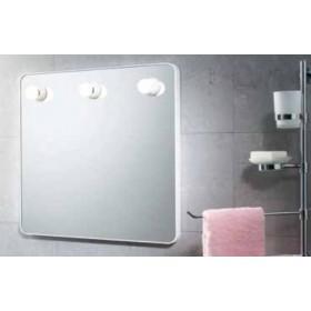 Specchio bianco con luci Gedy cm. 55x55 - arredo bagno