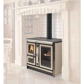 Termocucina a legna Nordica Mod. Italy magnolia 18.5 kW 530 m³ - cucina stufa riscaldamento arredo interni