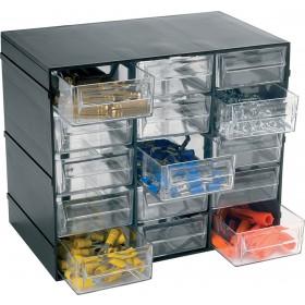Cassettiera portaminuteria con 15 cassetti trasparenti Mod HOBBY