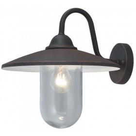 Lanterna Mod. Portofino in alluminio verniciato nero per lampada da 60 W - casa giardino