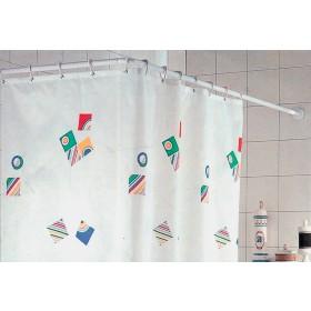 Telaio per tenda doccia in alluminio bianco cm. 80X80X80