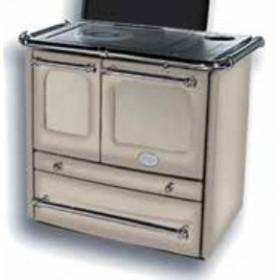 Cucina a legna Nordica Mod. Sovrana cappuccino 6.5 kW 186 m³ - stufa riscaldamento casa arredo interni