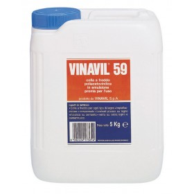 Colla vinilica a media viscosità VINAVIL barattolo 5 kg Mod VINAVIL 59